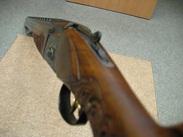 Ружьё выполнено в классическом